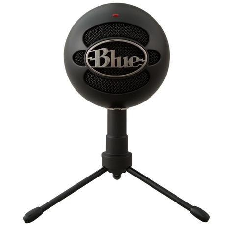 Microfone Condensador USB Blue Snowball Preto Ice Blue Logitech