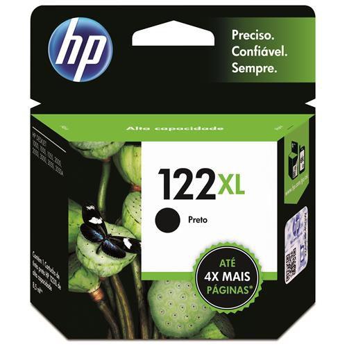 Cartucho de Tinta HP 122 XL Preto - Alto Volume - CH563HB