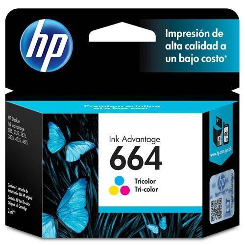 Cartucho Original Hp 664 Colorido Inkjet Advantage