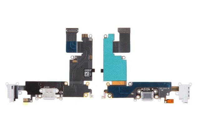 Cabo Flex Flat Iphone 6g Plus Dock Conector Carga Usb Preto