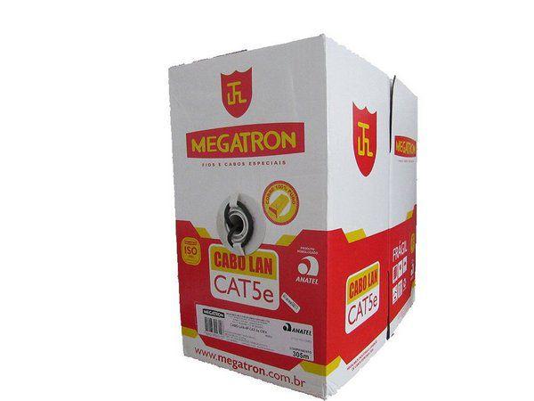 Cabo de Rede Trancado Preto Cat5 Megatron