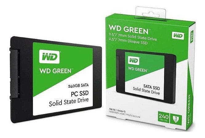 Ssd 240gb Sata3 2.5 WDS240G2G0A Green