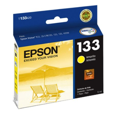 Cartucho Epson Compativel 133 Amarelo 8ML