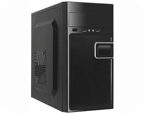 Gabinete Desktop K-MEX 1 Baia Externa GM-02T9 2 Preto Piano 2xUSB 2.0 C/fonte 200W C/Cabo