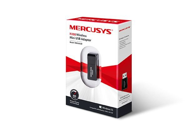 Adaptador Usb Wireless N300 MW300UM Mercusys