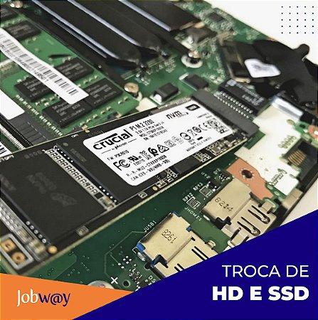 Troca de HD e SSD