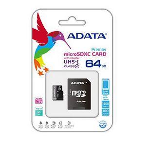 Cartao de Memoria Adata 64gb Class 10UHSI Micro SD AUSDX64GUICL10RA1