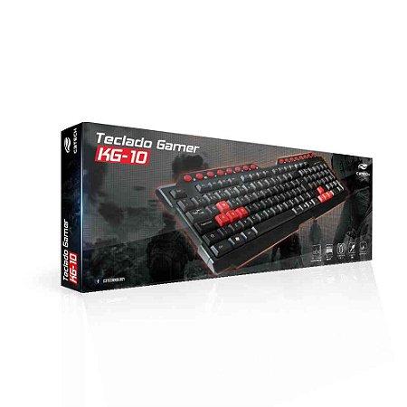 Teclado Usb Com Fio Gamer Kg 10bk C3tech