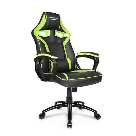 Cadeira Gamer ELG Raptor CH04GE com Apoio Lombar - Preto Verde ELG