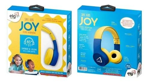 Headphone Estereo com Limitador de Volume Safe Kids Joy ELG