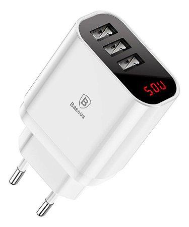 Carregador de Celular USB 3saida 3.4A Baseus