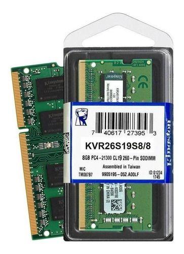 Memoria Notebook 8gb DDR4 2666mhz KVR26S19S88 Kingston