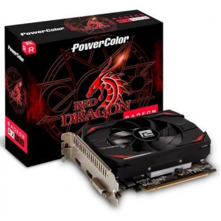 Placa de Video Radeon 4gb 128bit DDR5 Axrx 550 4GBD5DH Rx 550 Power Color
