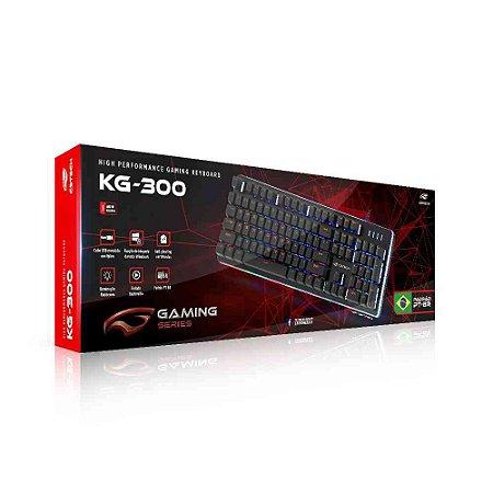 Teclado Usb com Fio Gamer Semimecanico KG300BK C3tech