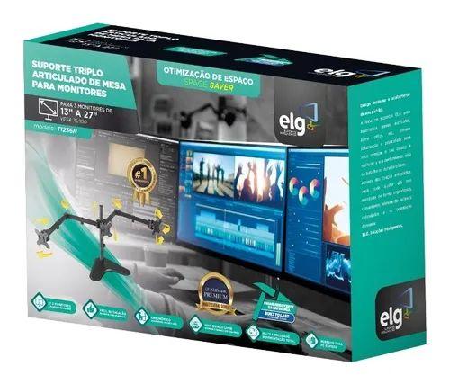 Suporte Giratório para 3 Monitores T1236N ELG