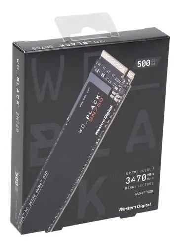 SSD 500gb M2 Nvme 2280SN750 BLACK 500GB WDS500G3XHC WD