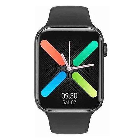 Smartwatch IWO K8 Preto c/ Pulseira de Silicone Preta
