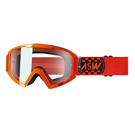 Óculos ASW A2 Check Laranja/Preto