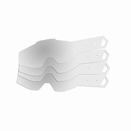 Tear Off para Óculos 100% Geração 2 (10 unidades) - Mattos Racing