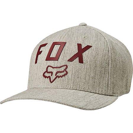 Boné Fox Number 2 Flexfit Cinza