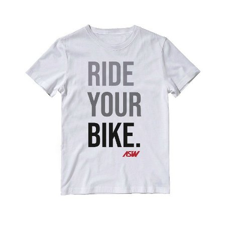 Camiseta ASW Ride Your Bike - Branco