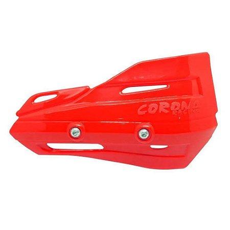 Plástico Reposição Protetor de Mão Rally Enduro Vermelho Corona Racing