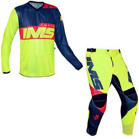 Conjunto IMS Infantil Army Amarelo Fluor