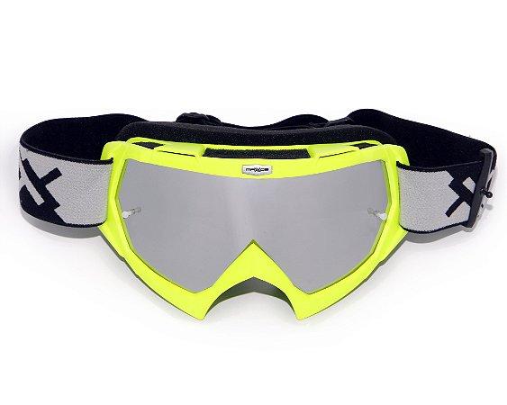 Óculos Mattos Racing Combat Espelhado Amarelo Fluor