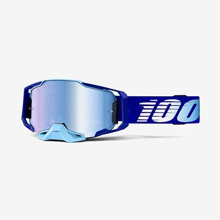 Óculos 100% Armega Espelhado Royal Azul