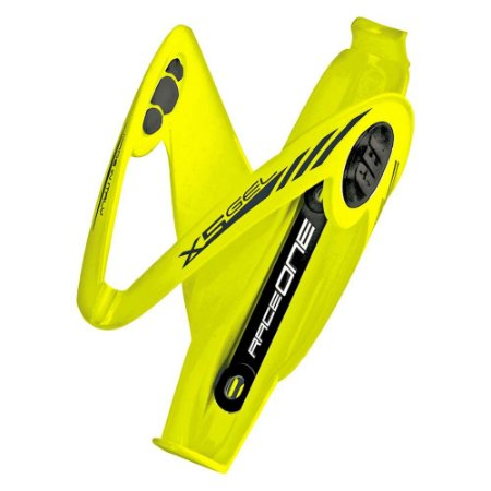 Suporte para garrafa squeeze caramanhola Raceone X5 Gel - Amarelo Fluorescente