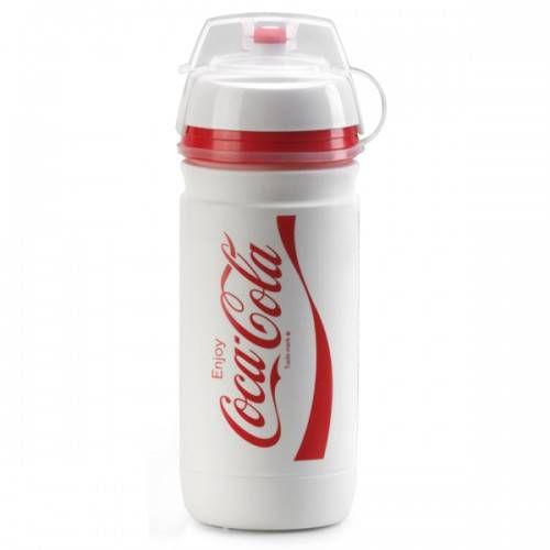 Garrafa térmica Squeeze Caramanhola Elite Corsa Coca-Cola - Branca 550ML