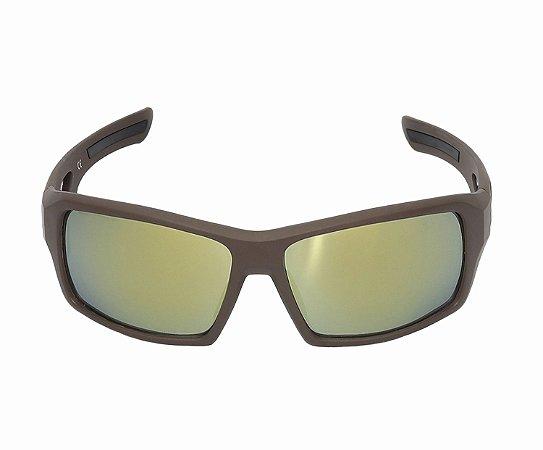Óculos Mattos Racing Wide Vision Marrom Fosco