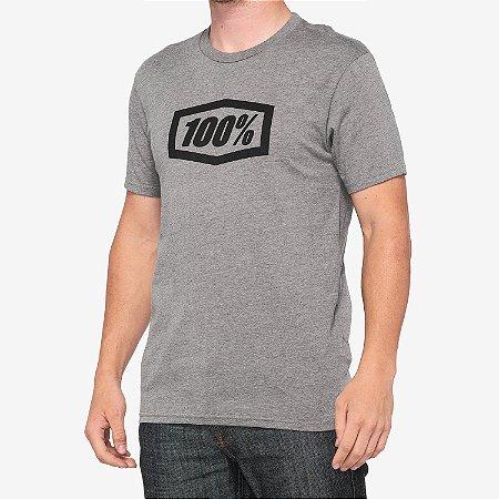 Camiseta 100% Essential Cinza GGG