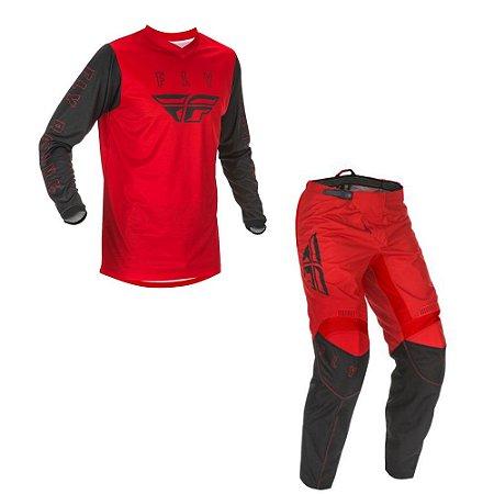 Conjunto Calça + Camisa Fly F16 2021 Vermelho/Preto