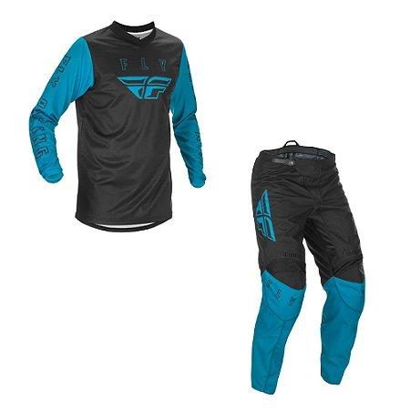 Conjunto Calça + Camisa Fly F16 2021 Azul/Preto
