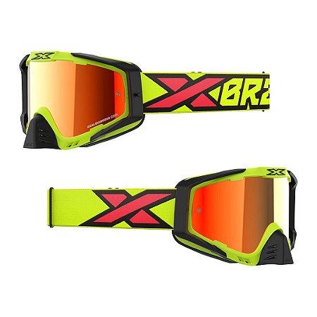 Óculos XBRAND EKS-S (S-SERIES) Espelhado Amarelo Fluo