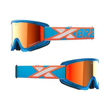 Óculos XBRAND Gox Flat-Out (Espelhado) - Azul/Laranja
