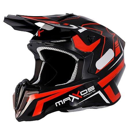 Capacete Mattos Racing Combat MTR02 Vermelho Tam. 58 - M