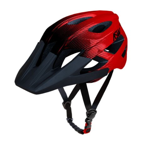Capacete ASW Bike Accel Dots Vermelho/Preto