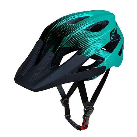 Capacete ASW Bike Accel Dots Verde/Preto