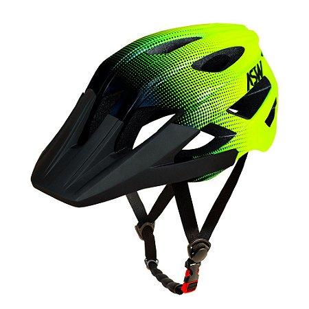 Capacete ASW Bike Accel Dots Amarelo Fluorescente/Preto