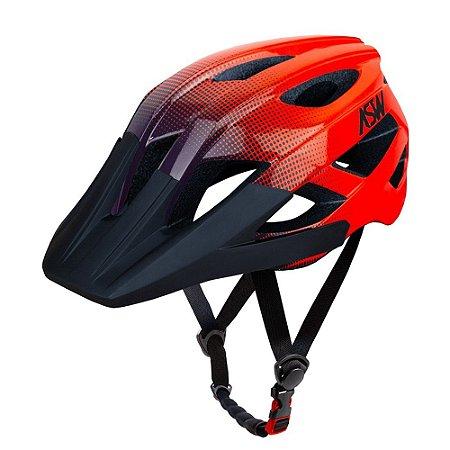 Capacete ASW Bike Accel Dots Laranja/Azul
