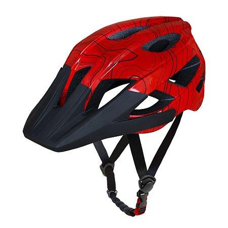 Capacete ASW Bike Accel Frontier Vermelho
