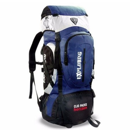 Mochila Camping 55 Litros Azul Clio MC5389
