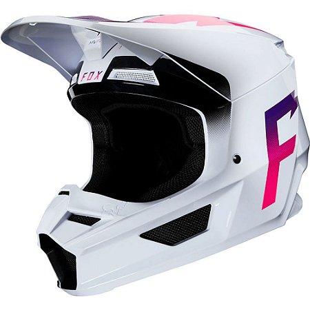 Capacete FOX V1 MVRS Weld Branco