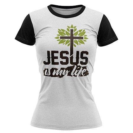 Camiseta feminina Jovem Jesus is my life- 012