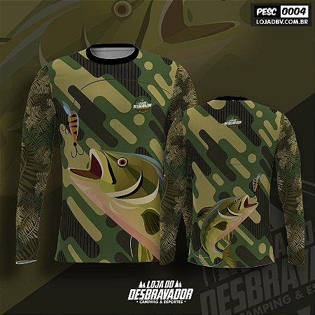 Camiseta de Pesca P04 - Tucunaré Isca