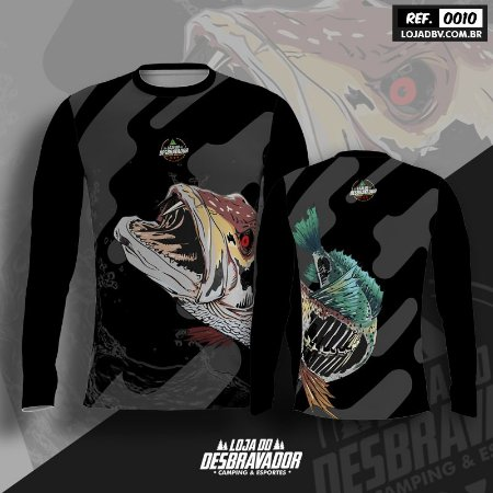 Camiseta de Pesca - Cachorra Esqueleto 0010