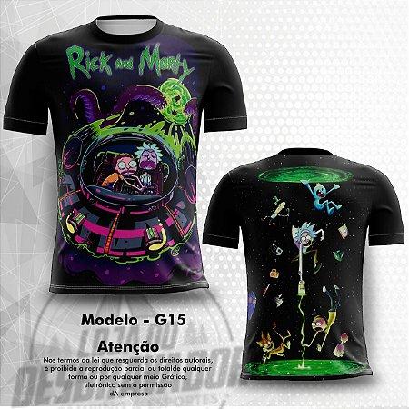 Camiseta Gamer - Rick and Morty 0015