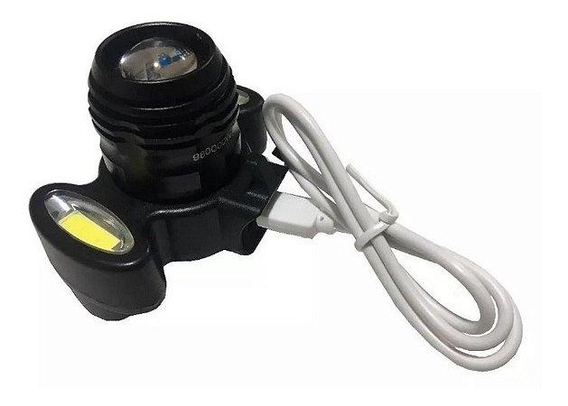 Farol De Bike E Lanterna De Cabeça Bike Lights Usb Importado